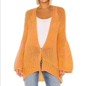 Free People Home Town Cardi in Yellow Combo